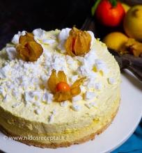 Citrininis varškės tortas