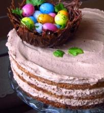 Migolinis tortas su šokoladiniu kremu