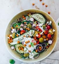 Graikiškos bolivinės balandos salotos