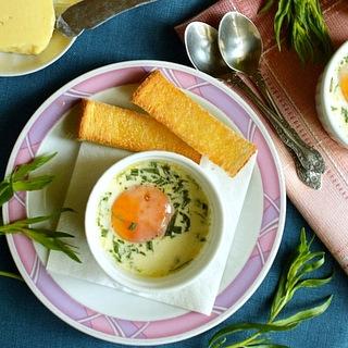 Kiaušiniai en cocotte