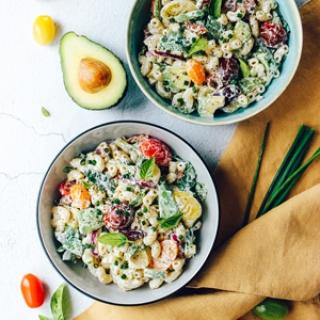 Kreminės makaronų salotos