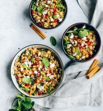 Marokietiškos grikių salotos