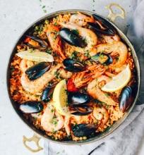 Lengva jūros gėrybių Paella