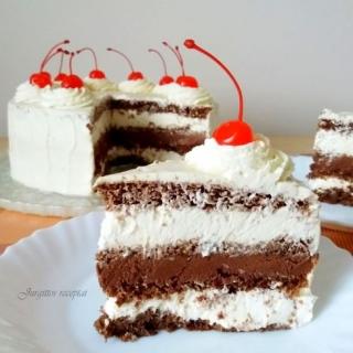 Šokoladinis-maskarponinis tortas su kava