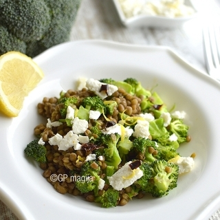 Lęšių salotos su brokoliu