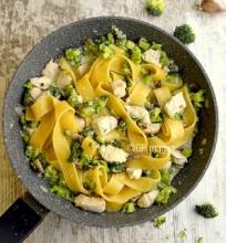 Makronai su brokoliais