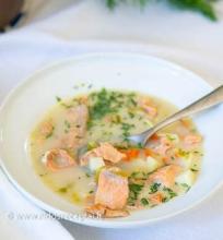 Lašišų sriuba