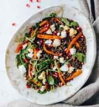 Keptų morkų ir lęšių salotos
