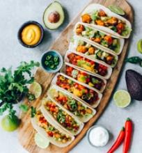 Trys tacos receptai