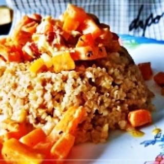 Bulguro kruopų patiekalas pietums