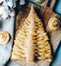 Šventinis sluoksniuotos tešlos pyragas