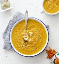 Keptų kalafiorų sriuba