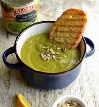 Brokolių ir žirnelių sriuba