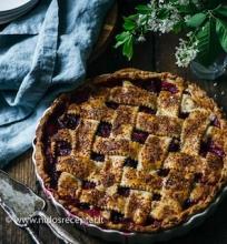 Rabarbarų ir aviečių pyragas