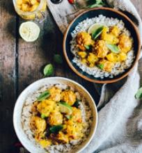 Curry mango vištienos kukuliai