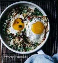 Kalafiorų ryžių dubenėlis
