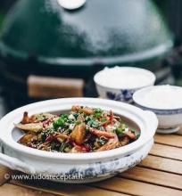 Kiniškas krevečių stir fry