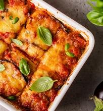 Itališkas baklažanų ir sūrio apkepas