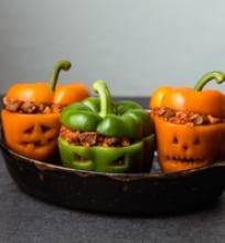 Halloweeno įdarytos paprikos