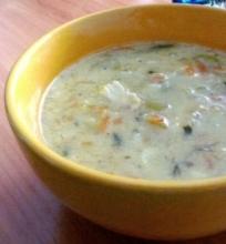 Daržovių ir vištienos sriuba