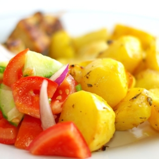 Graikiškai keptos bulvės