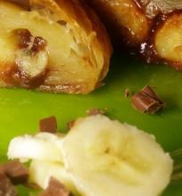 Lengvas bananų-šokolado vyniotinis