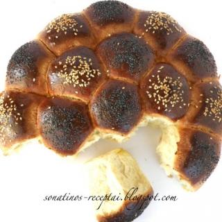 Vokiška šventinė duona (Partybrot)
