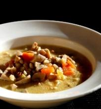 Tiršta vištienos ir perlinių kruopų sriuba