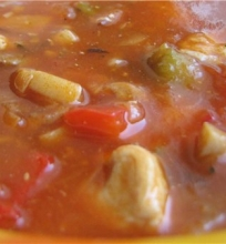 Guliašo sriuba su kalakutiena