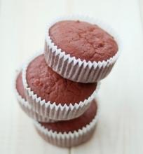 Šokoladiniai burokėlių keksiukai