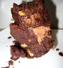 Labai šokoladinis pyragas (Chocolate brownie)