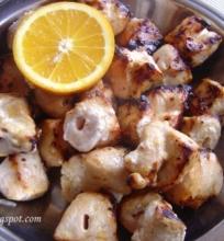 Apelsininis vištienos šašlykas