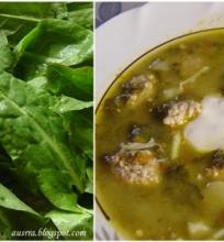 Rūgštynių sriuba su kalakutienos maltiniais