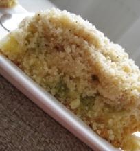 Trupininis rabarbarų pyragas