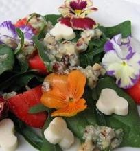Vasaros salotos su gėlėmis