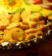 sausainiai su migdolų aromatu