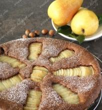 Šokoladinis kriaušių pyragas be miltų