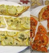 Paplotėliai su cukinijomis ir pomidorais