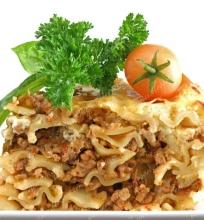 Graikiškas makaronų ir maltos mėsos apkepas