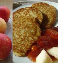 Bulviniai blynai su obuoliais