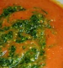 Keptų pomidorų sriuba