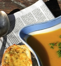 Moliūgų ir morkų sriuba