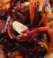 Silkė su kepintomis daržovėmis