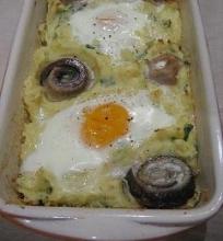 Bulvių košė su kiaušiniais ir silke