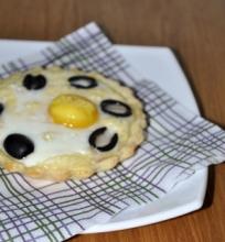Pusrytinis pyragėlis su kiaušiniu