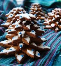 Kalėdinės meduolinės eglutės