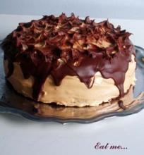 kavos+mascarponės+rududu tortas
