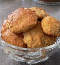 Obuolių košės sausainiai su razinomis