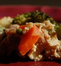 Vištienos ir daržovių apkepas