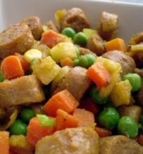 Keptos dešrelės su daržovėmis